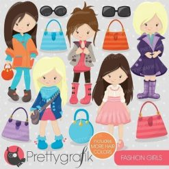 Fashion girls clipart