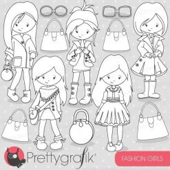Fashion girls stamps