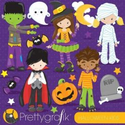 Halloween kids clipart