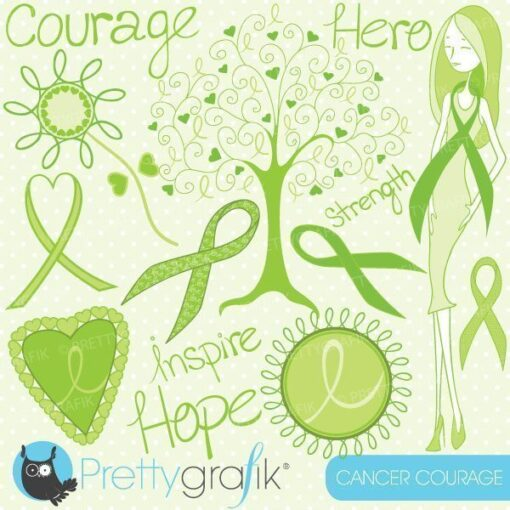 Cancer courage clipart