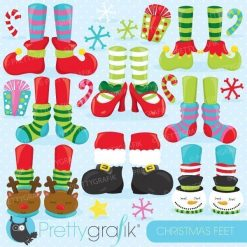 Christmas feet clipart
