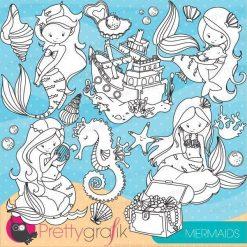 Mermaids stamps
