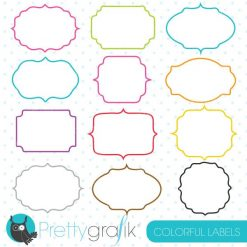 Colorful labels clipart
