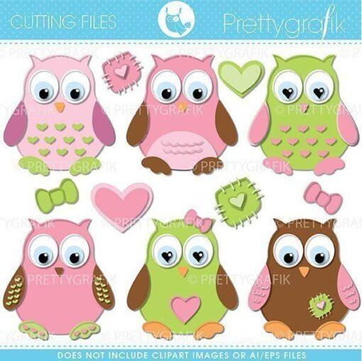 Owl cutting files
