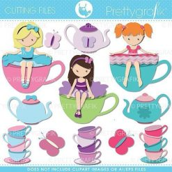 Tea party cutting files