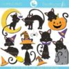Halloween cat cutting files