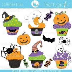 Halloween cupcake cutting files