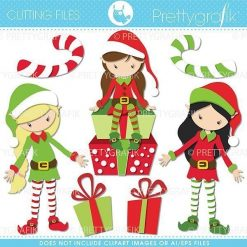 Christmas elf cutting files