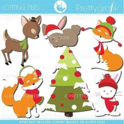 Christmas animals cutting files