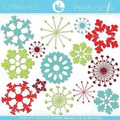 Snowflake cutting files