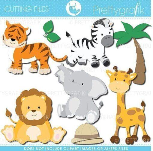 safari animals cutting files