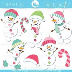 Snowman cutting files