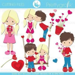 Valentine kids cutting files