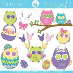 Easter owls cutting files