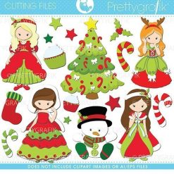 Christmas princess cutting files