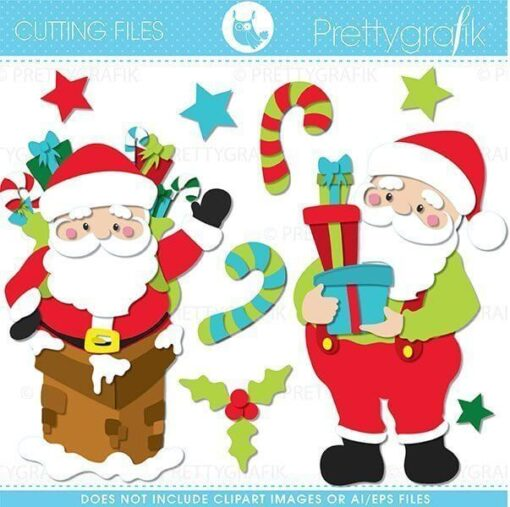 Santa claus cutting files
