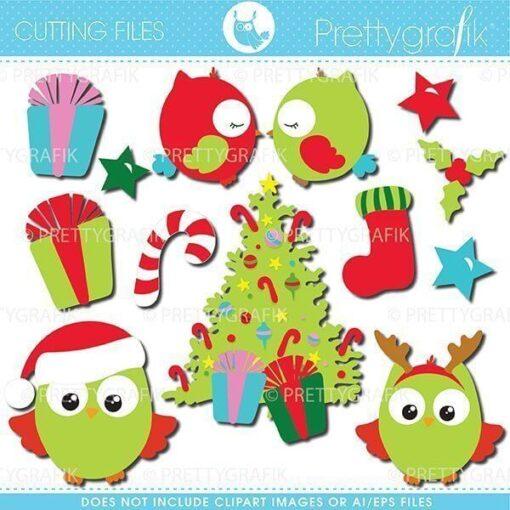 Christmas owls cutting files