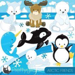 Arctic friends clipart