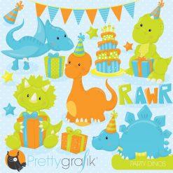 Dinosaur party clipart