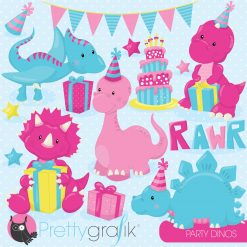 Dinosaur party clipart