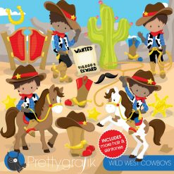 Wild west cowboys clipart