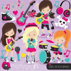 Girl rock band clipart