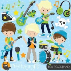 Boy rock band clipart