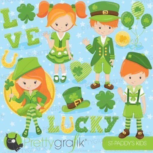 St-Patrick's kids clipart