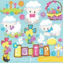 Easter lamb clipart