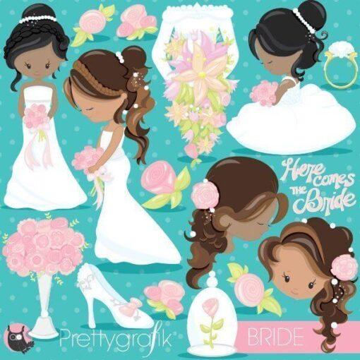 wedding bride clipart
