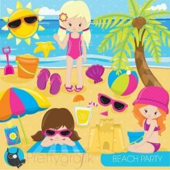 beach party clipart