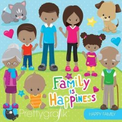 Happy family clipart