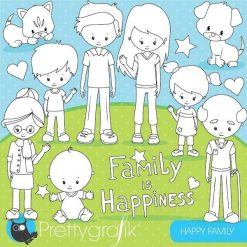 Happy family stamps