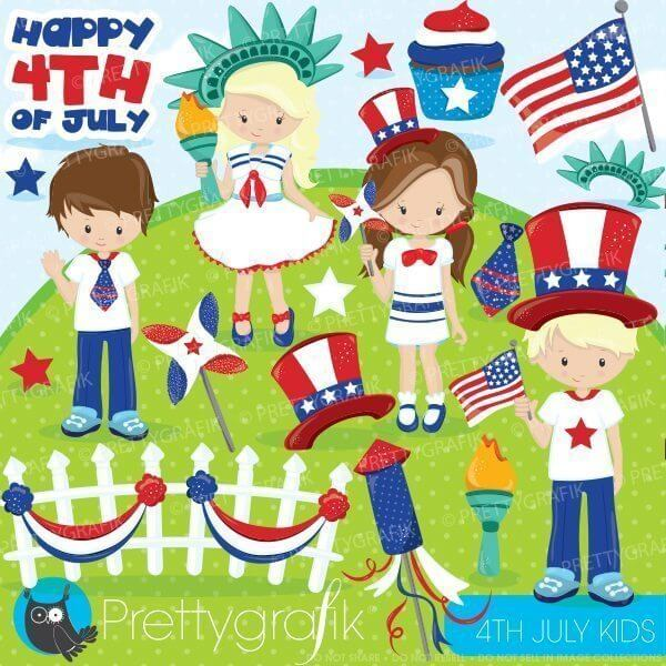 Look - 4th of kids july clipart pictures video