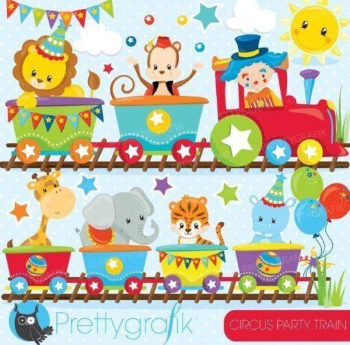 Circus train clipart