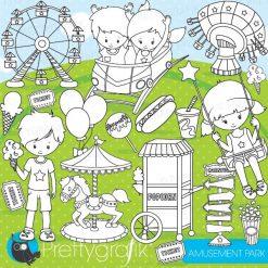 Amusement park stamps