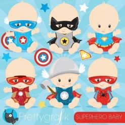 Super hero babies clipart