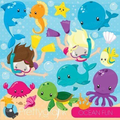 Ocean fun clipart