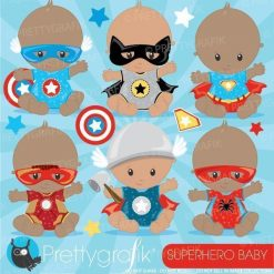 Super hero babies clipart