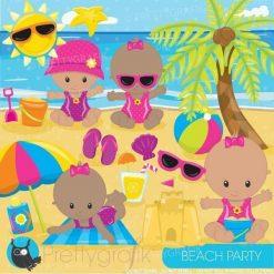 Beach baby clipart