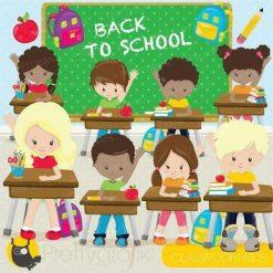 Classroom kids clipart