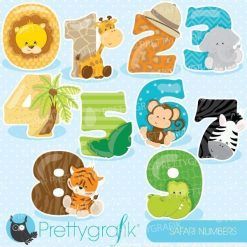 Safari numbers clipart