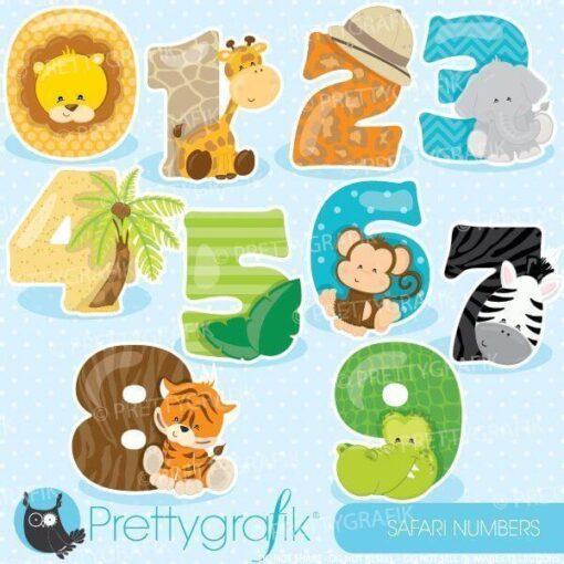 Safari numbers clipart