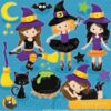 Tween witch clipart