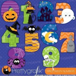 Halloween numbers clipart