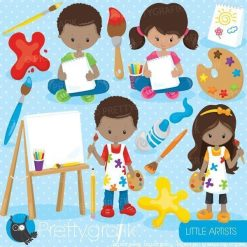 Little artists clipart