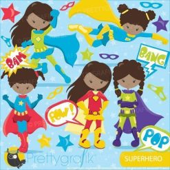Superhero girls clipart