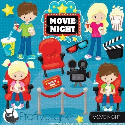 Movie night clipart