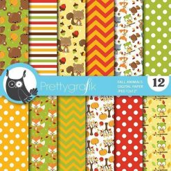 Fall animals papers