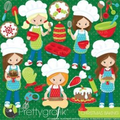 Christmas baking clipart